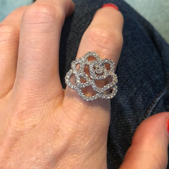 57471759e Swarovski Jewelry | Crystal Rose Ring | Poshmark